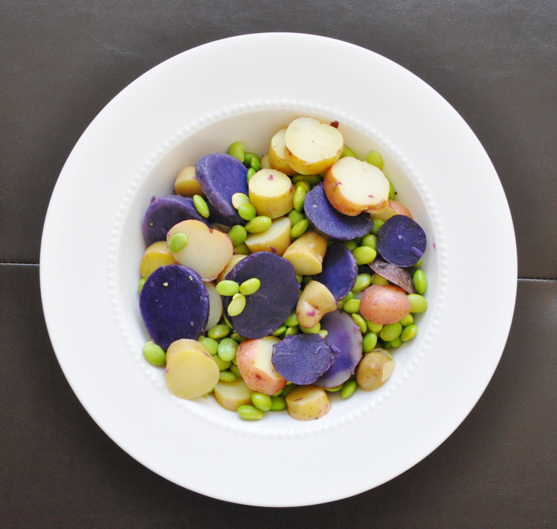 Lemon Potato Edamame Salad