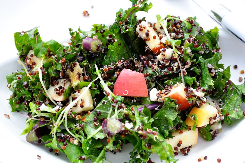 Black Quinoa and Kale Salad