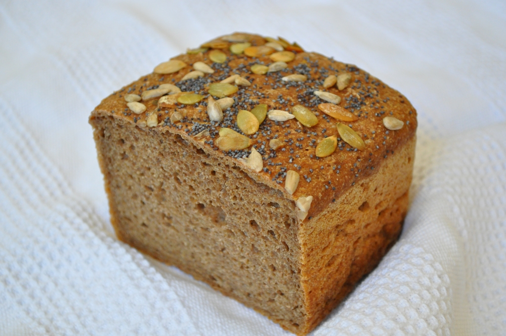100% Whole Wheat and Flaxseed Bread
