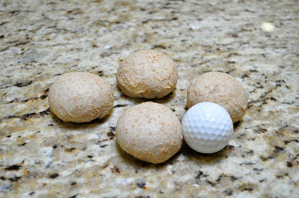 roti balls with golf ball