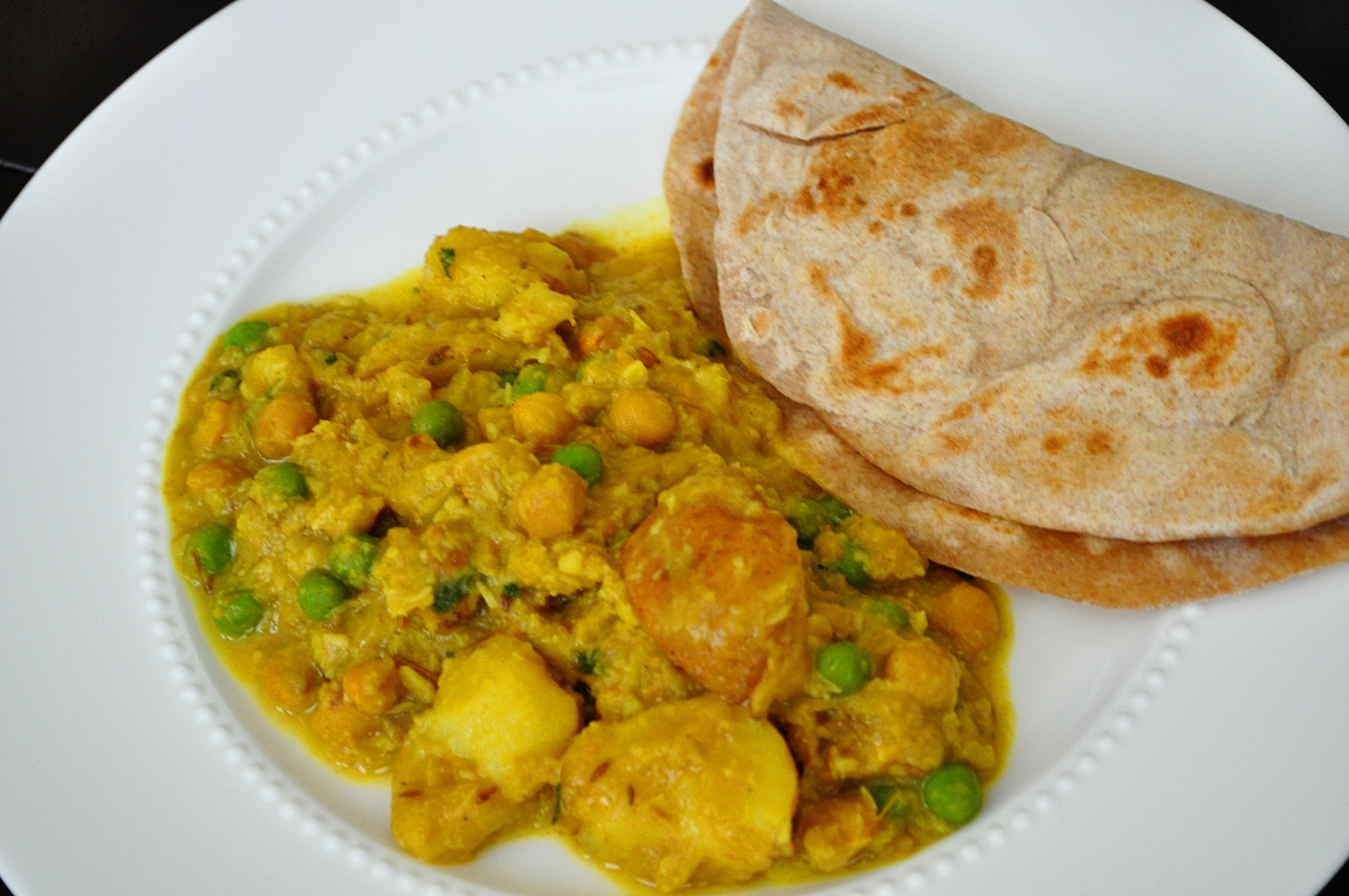 Pakistani Roti Part 4: What to Eat With Roti: Spiced Potatoes and ...