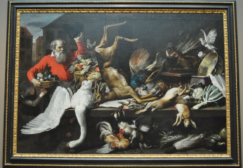 Snyders Still Life with Dead Game, Fruits, and Vegetables in a Market 1614