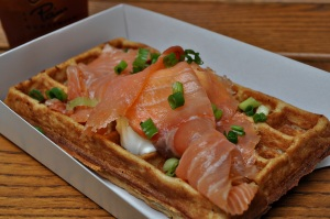 waffle window salmon on waffle