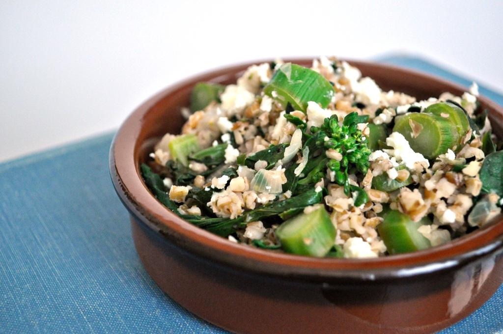 broccoli rabe and bulgur