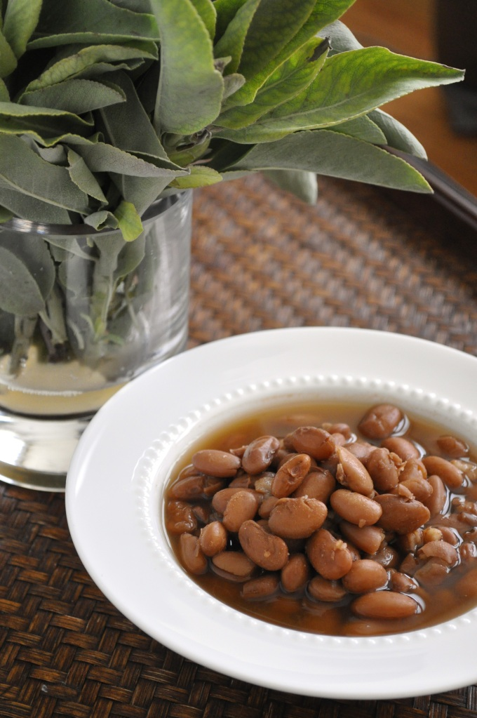 Borlotti Beans with Sage