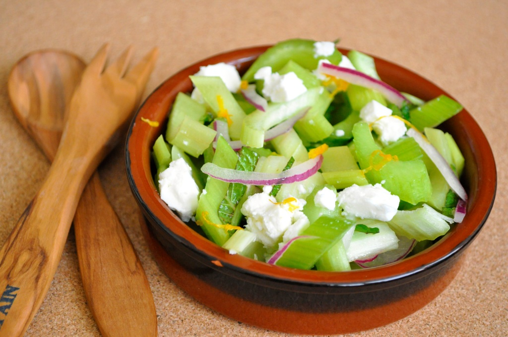 Celery Salad with Feta and Mint