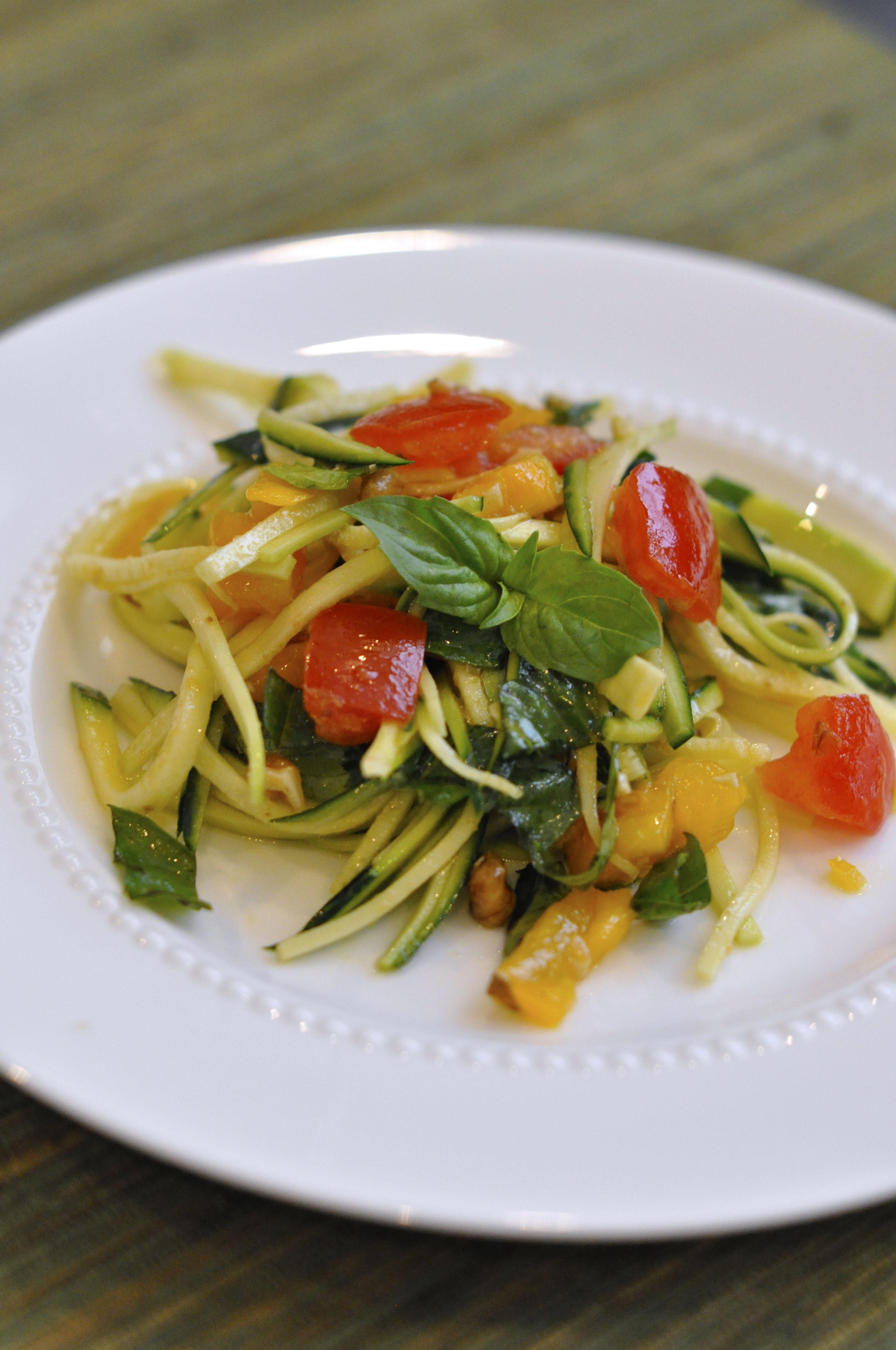 Summer Macaroni Salad With Tomatoes And Zucchini Recipe ...