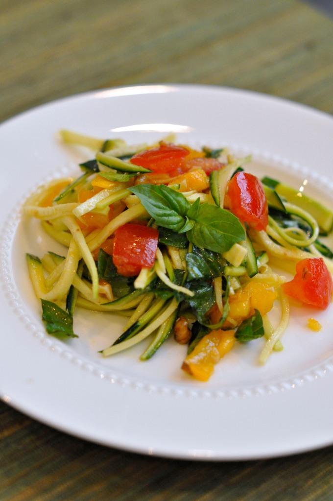 Tomato and Zucchini Pasta Salad